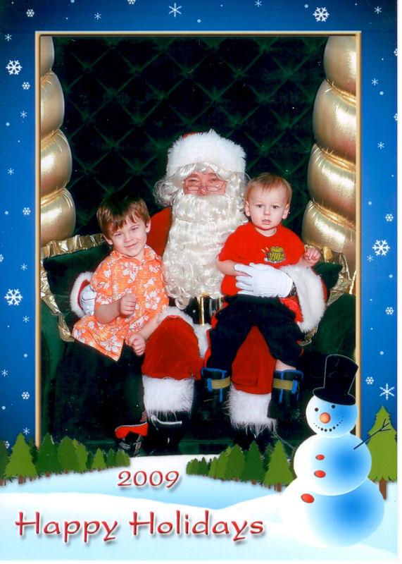 Alex & Ryan visit Santa